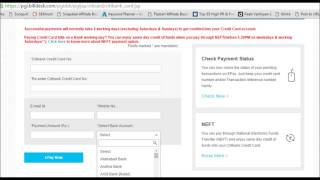 Citibank Credit Card Payment Through Other Bank Netbanking Bill Desk