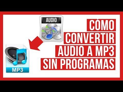 Como Convertir Audio a Mp3 Sin Programas - WAV WMA AMR M4A
