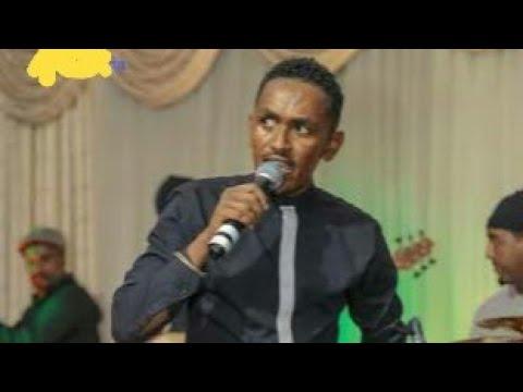 New oromo music hachalu hundessa on stage...