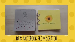 DIY: Notebook for back to school | how to upcycle unused and old notebooks