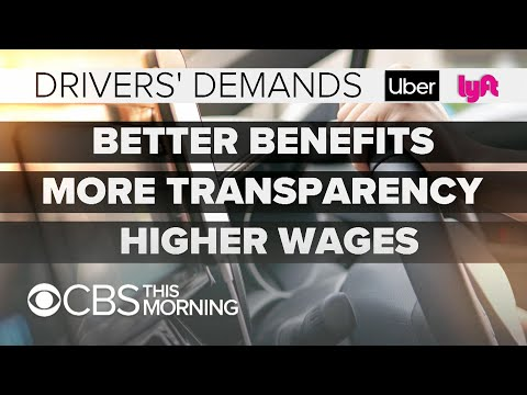 Uber and Lyft drivers strike over low wages, benefits ahead of Uber IPO
