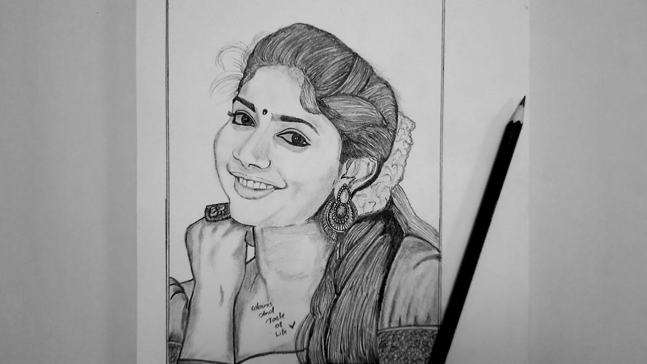 Sai Pallavi pencil drawing video #How to draw Sai Pallavi ...