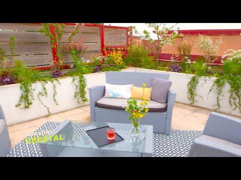 am nager une terrasse en salon de jardin mission v g tal m6 youtube. Black Bedroom Furniture Sets. Home Design Ideas