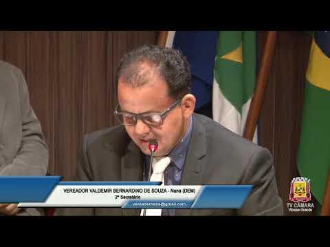 Sessão Ordinária do dia 27032019   Câmara Municipal de Várzea Grande