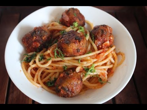 Spaghetti Recipe | Spaghetti with Veg Meat Balls | Vegetarian Spaghetti Recipe