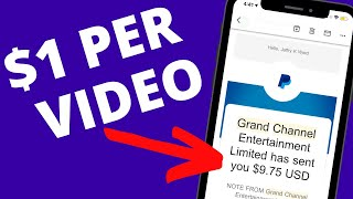 Get Paid To Watch Videos ($1.00+ PER VIDEO)