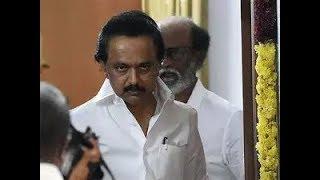 Stalin angry Speech   MK Stalin angry with Rajinikanth Spiritual political