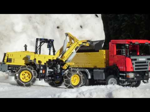 Winter Special - Lego Scania OffRoad 6x6 Dump truck & Komatsu WA320-5