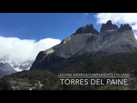 Vista de ruta laguna amarga a campamento italiano. Torres del Paine 2015
