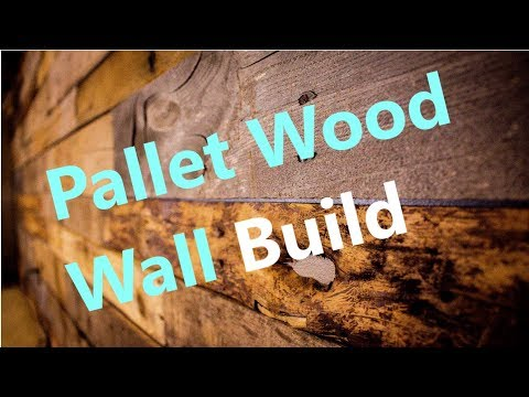 DIY Pallet Wood Wall Build Trophy Room
