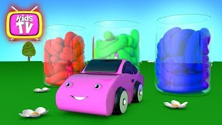 Animations for kids - Learn colors with toy cars