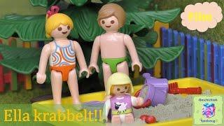 Playmobil Film Deutsch ELLA KANN KRABBELN ♡ Playmobil Geschichten mit Familie Miller