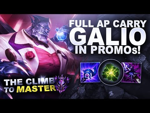 FULL AP CARRY GALIO IN PROMO'S! - Climb to Master | League of Legends thumbnail