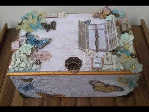 Tutorial mixed media wooden box youtube for Wooden box tutorial
