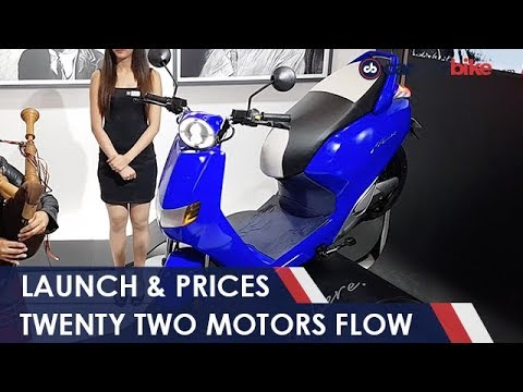 Twenty Two Flow Electric Scooter Launched In India Autoexpo2018 Youtube