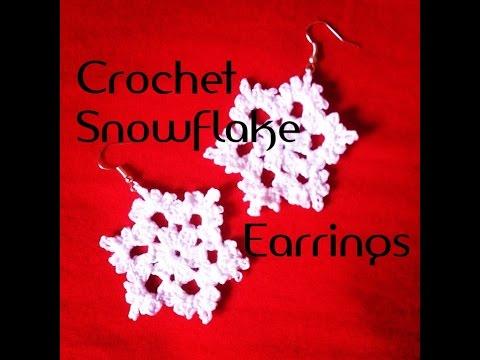 Crochet Snowflake Earrings Tutorial Free Pattern How To Crochet