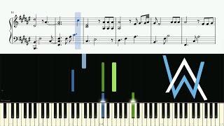 Alan Walker - Faded (Piano Version) - Piano Tutorial + SHEETS