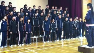 厚真南中学校生徒たち合唱