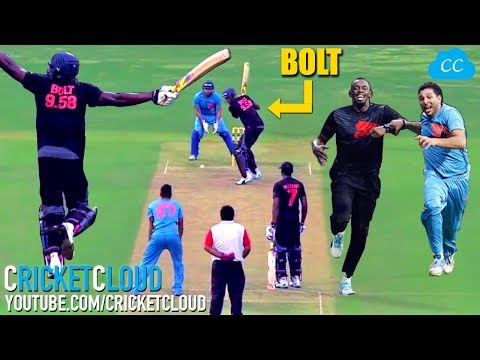 If USAIN BOLT Play CRICKET & Yuvraj Singh RACE !!