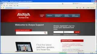 How to Set E-Notifications on the Avaya Support Website