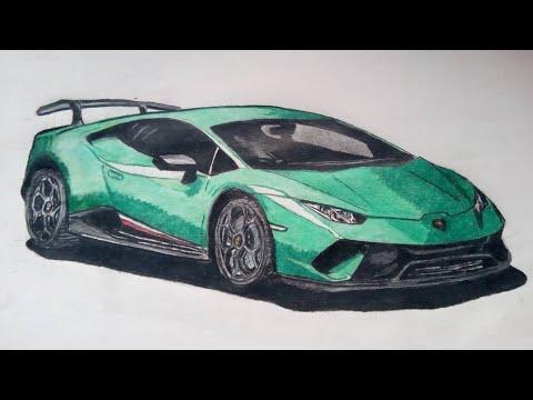 How To Draw Lamborghini Huracan Performante Speed Drawing Youtube