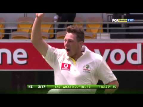 James Pattinson 1-64 and 5-27 vs New Zealand 1st Test 2011-12