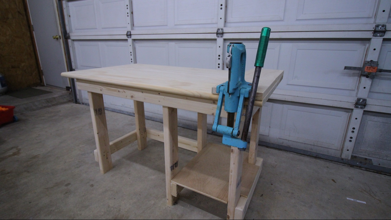 Good Reloading Bench Build EASY!! 4u0027 Reloading Bench