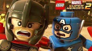 LEGO MARVEL SUPER HEROES 2 All Cutscenes (Game Movie) 1080p 60FPS