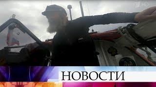 Федор Конюхов приостановил свой путь на весельной лодке из-за встречного ветра.