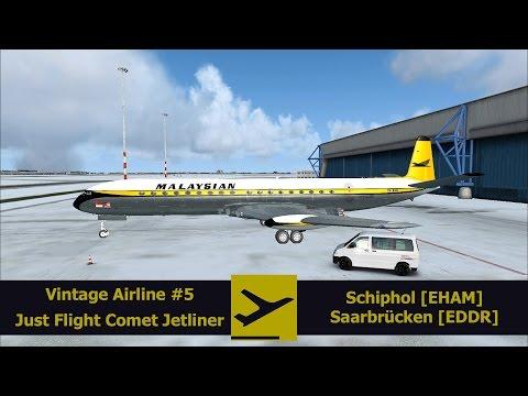 FSX | FSPassengers | Vintage Airline #5 | JF Comet Jetliner | Schiphol [EHAM] - Saarbrücken [EDDR]