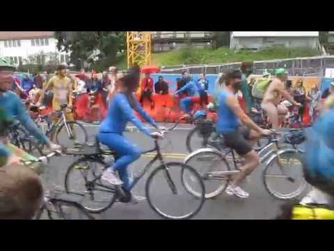 Naked Bike Parade Welcoming The Summer Solstice 2016 ~ warning!