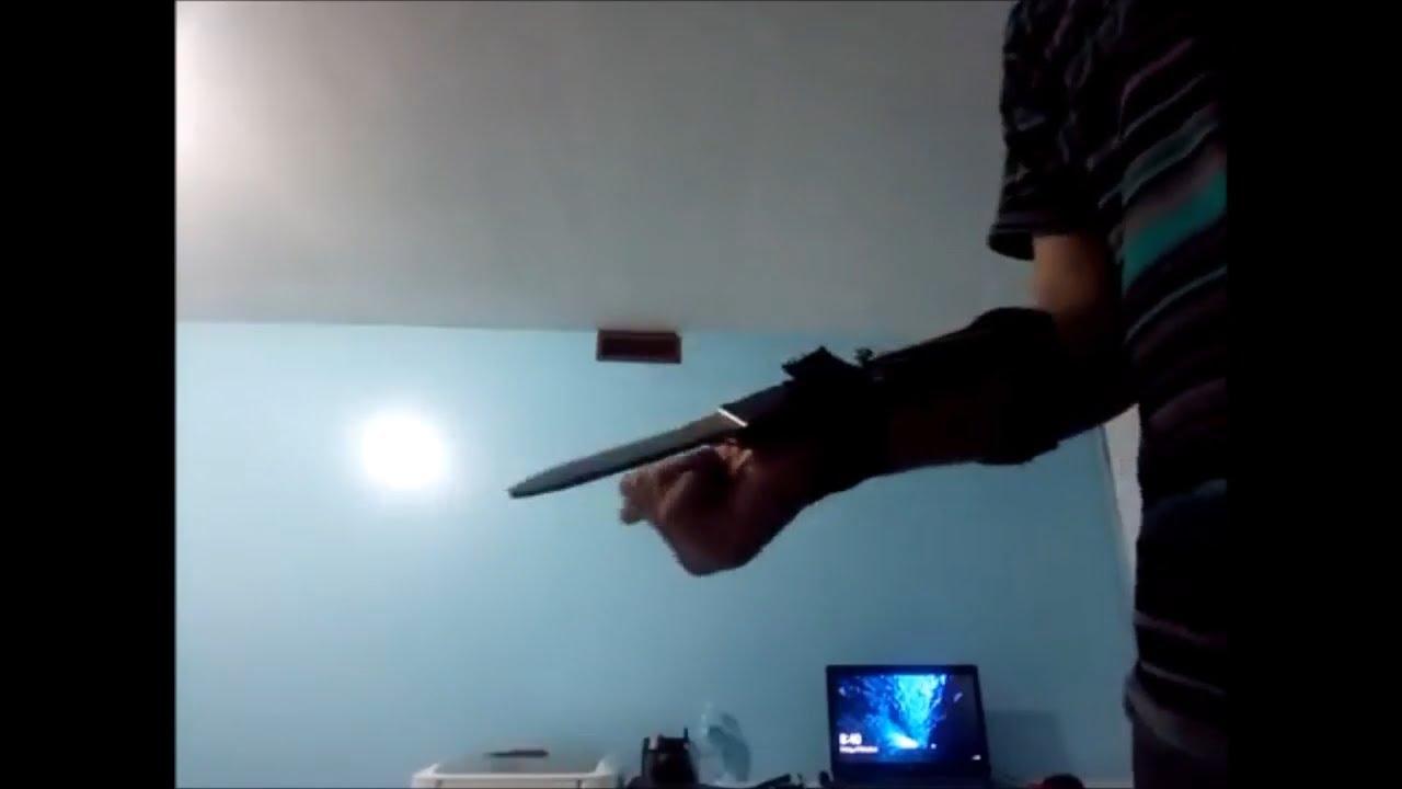Real Life Retractable Assassins Creed Hidden Blade Youtube