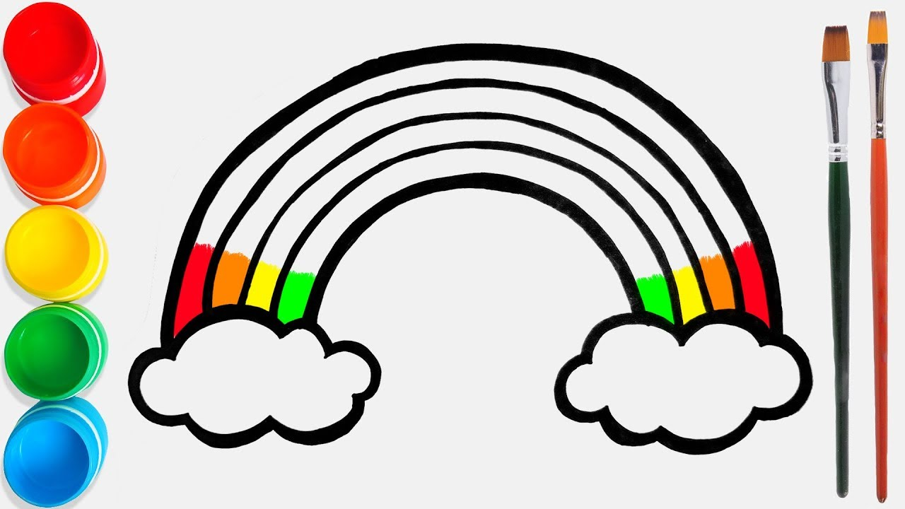 Cara Menggambar Dan Mewarnai Pelangi Mainan 38 Video Pendidikan Untuk Anak Anak