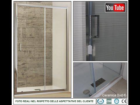 Box doccia nicchia FST. 2 ante regolabile REVERSIBILE