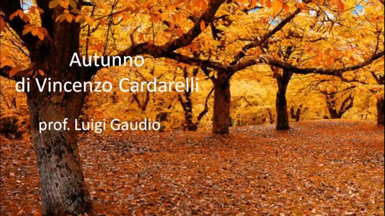 Autunno Di Vincenzo Cardarelli Youtube