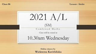 A/L Combined Mathematics 2021(SM) Class 6B by Wickrema Kavithilaka