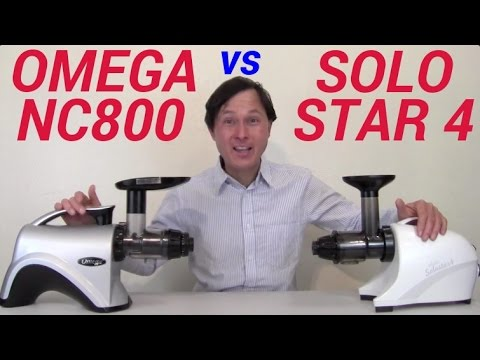 Omega NC800 vs Solostar 4 Comparison Review: Green Juice
