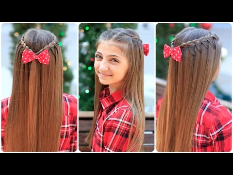 Upward Lace Braid And ShareTheGift Nativity Collab Cute Girls Hairstyles