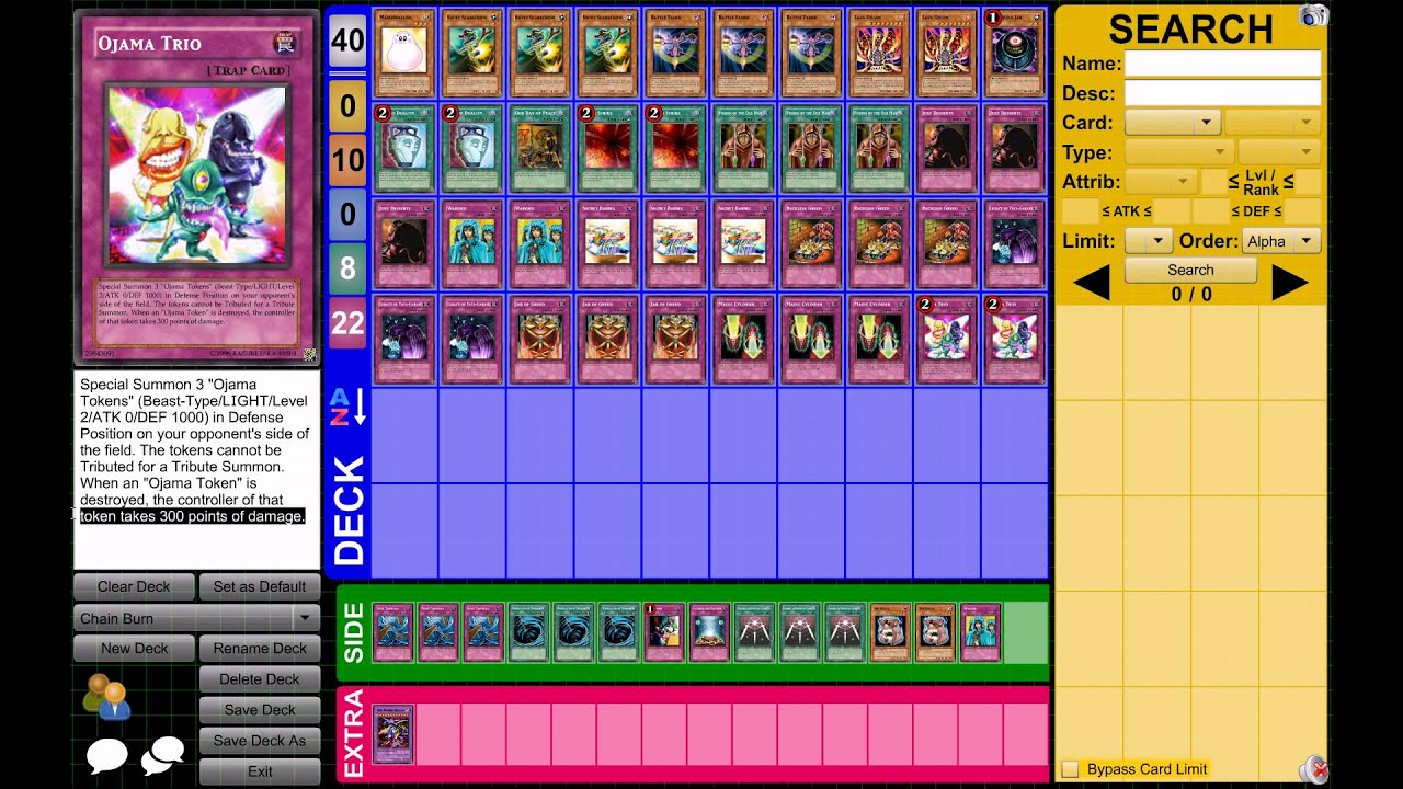 Yu Gi Oh Chain Burn Deck March 2013 Format Youtube