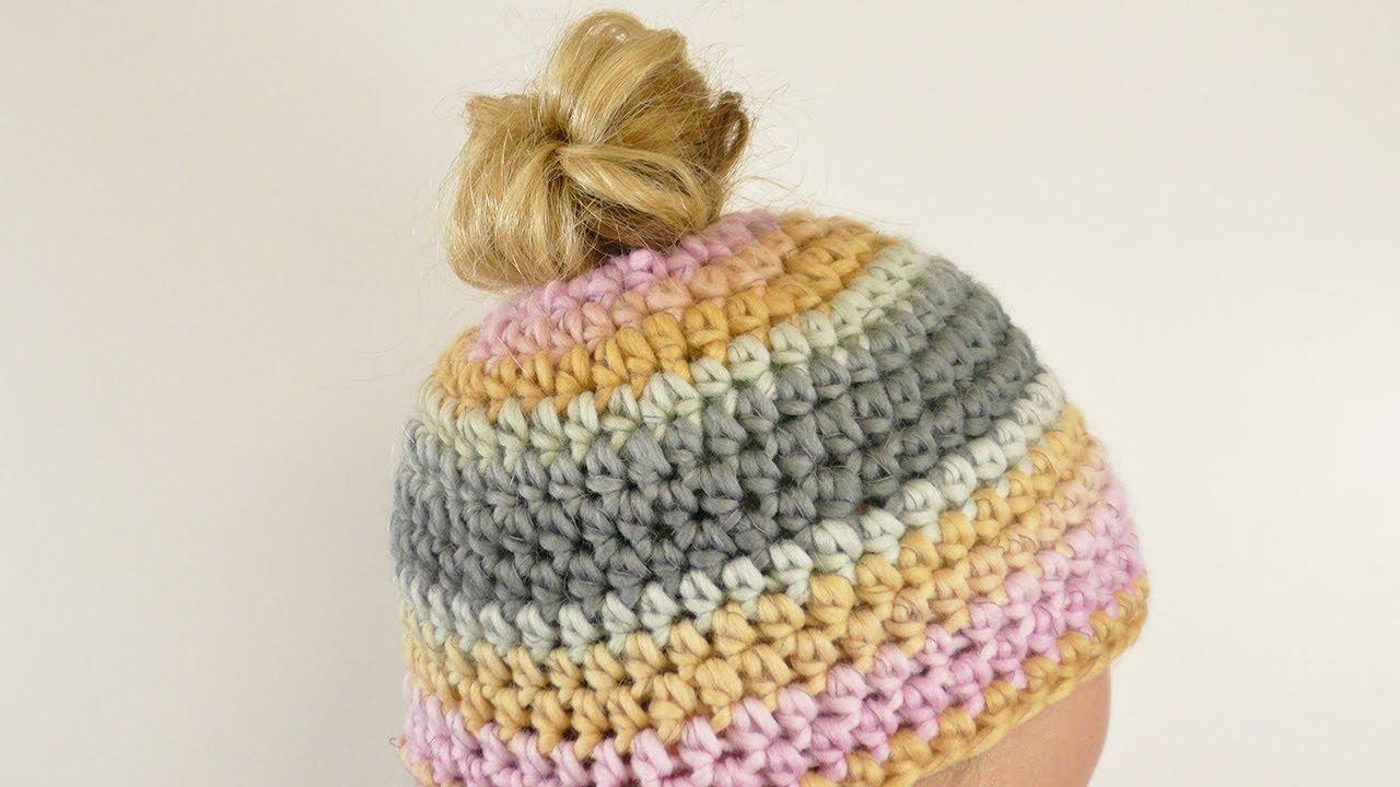 Messy Bun Hat | Zopfmütze häkeln | Wintermütze selber machen | einfach Anleitung | Rico Design