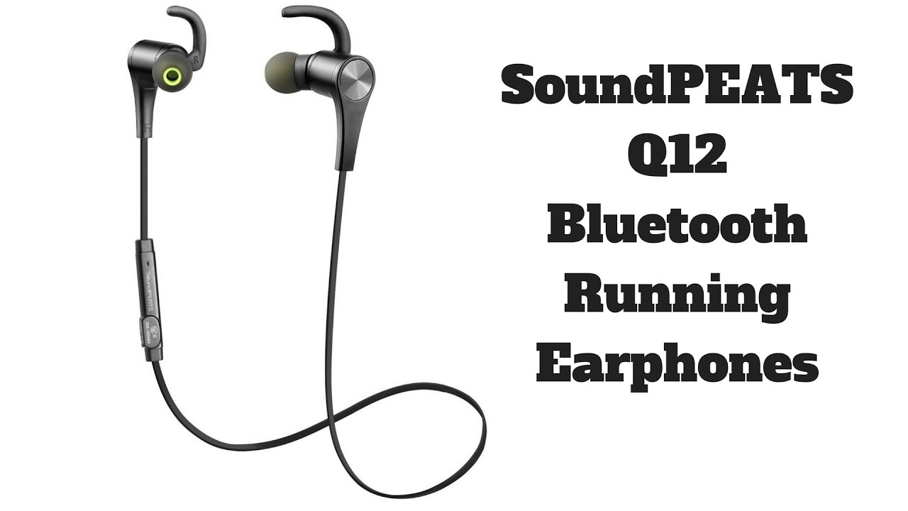 best running earphones  soundpeats q12 bluetooth stereo