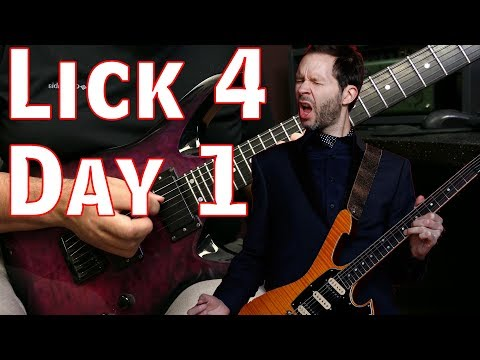 Blues Scale Pentatonic Shred Lick | Lick 4 Day 1