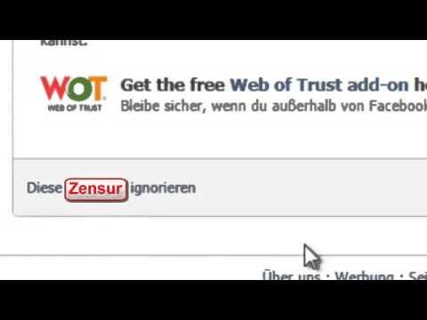 Zensur durch Facebook und Web of Trust