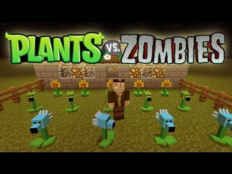 PLANTAS VS ZOMBIES! Minecraft Mod