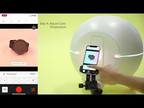 Foldio360 Smart Dome - How to Take Single Shots with App