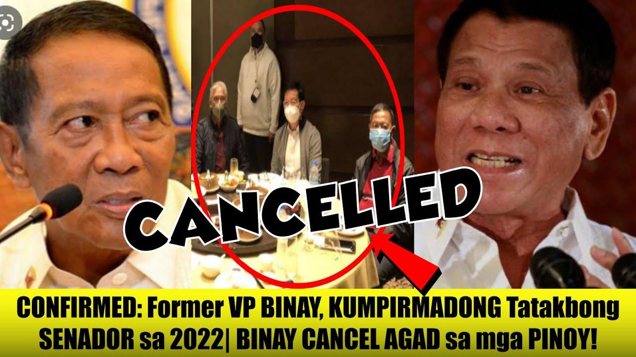 NAKAKAGULAT: Matapos I-ANUNSYO na TATAKBONG Senador sa 2022  Jojo Binay CANCEL AGAD sa mga PILIPINO!