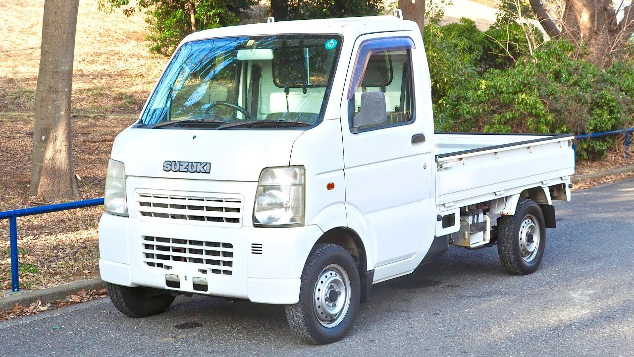 95d55d0df2 2002 Suzuki Carry Kei Truck 4WD (Canada Import) Japan Auction Purchase  Review