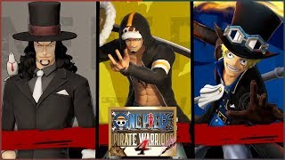 One Piece Pirate Warriors 4 Law, Rob Lucci & Sabo Gameplay/Moveset Preview