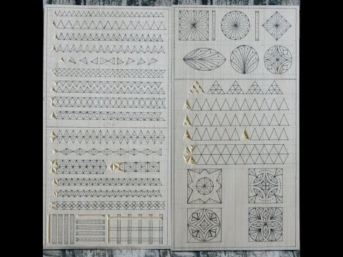 Practice Board - Chip carving (examples of carving the elements)