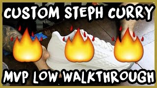 CUSTOMIZING STEPH CURRY UNDERARMOUR 1 LOWS! | xChaseMaccini